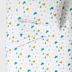 Confetti Cosmos Flannel Sheet Set - Pillowfort™