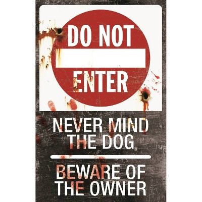Halloween Metal Sign-Do Not Enter