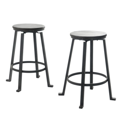 "Lolita 27"" Firwood Swivel Barstool - Black (Set of 2) - Christopher Knight Home - image 1 of 4"