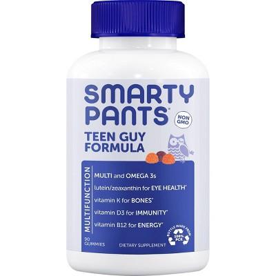 SmartyPants Teen Guy Formula Multivitamin Gummies - Lemon Lime, Orange & Cherry - 90ct