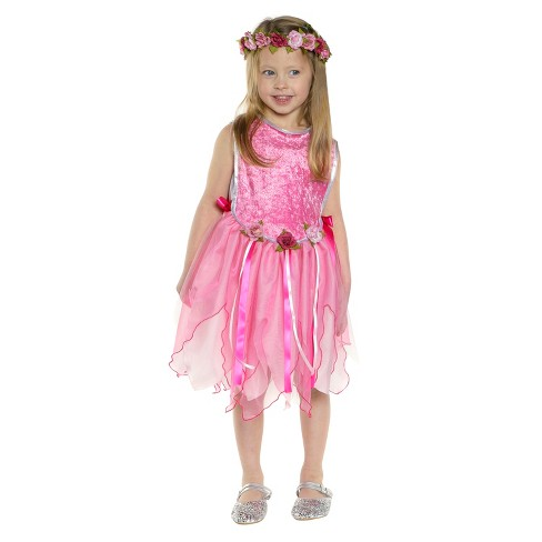 Great Pretenders Forest Fairy Tunic & Diamond Sparkle Cape Bundle - Pink - Kid's Size 3-4 - image 1 of 3