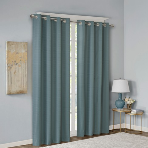 Lexie Jacquard Solid Room Darkening Panel - image 1 of 4