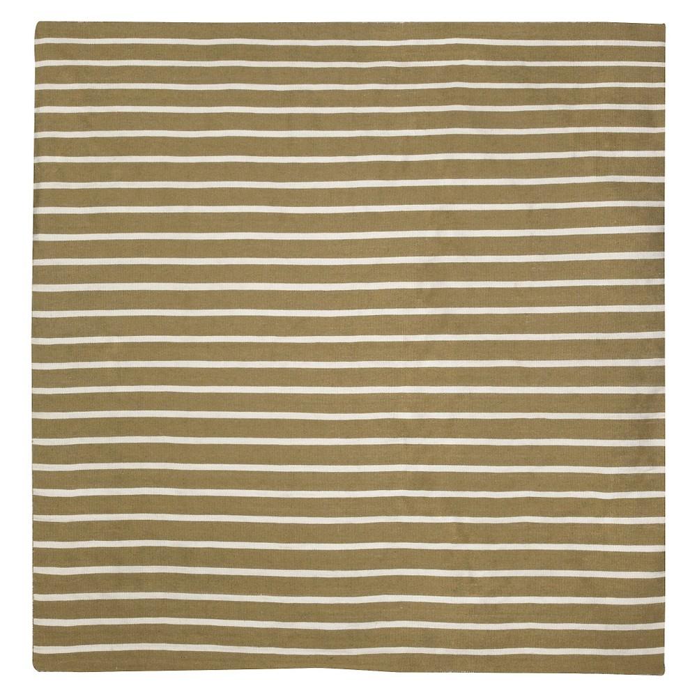 Liora Manne Sorrento Pinstripe Indoor/Outdoor Area Rug - Beige (8'x8'), Green