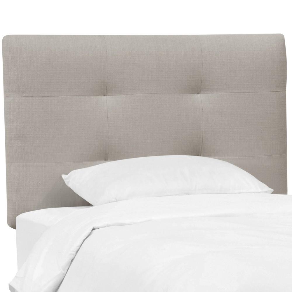 Twin Sawyer Upholstered Kids Headboard Gray - Pillowfort