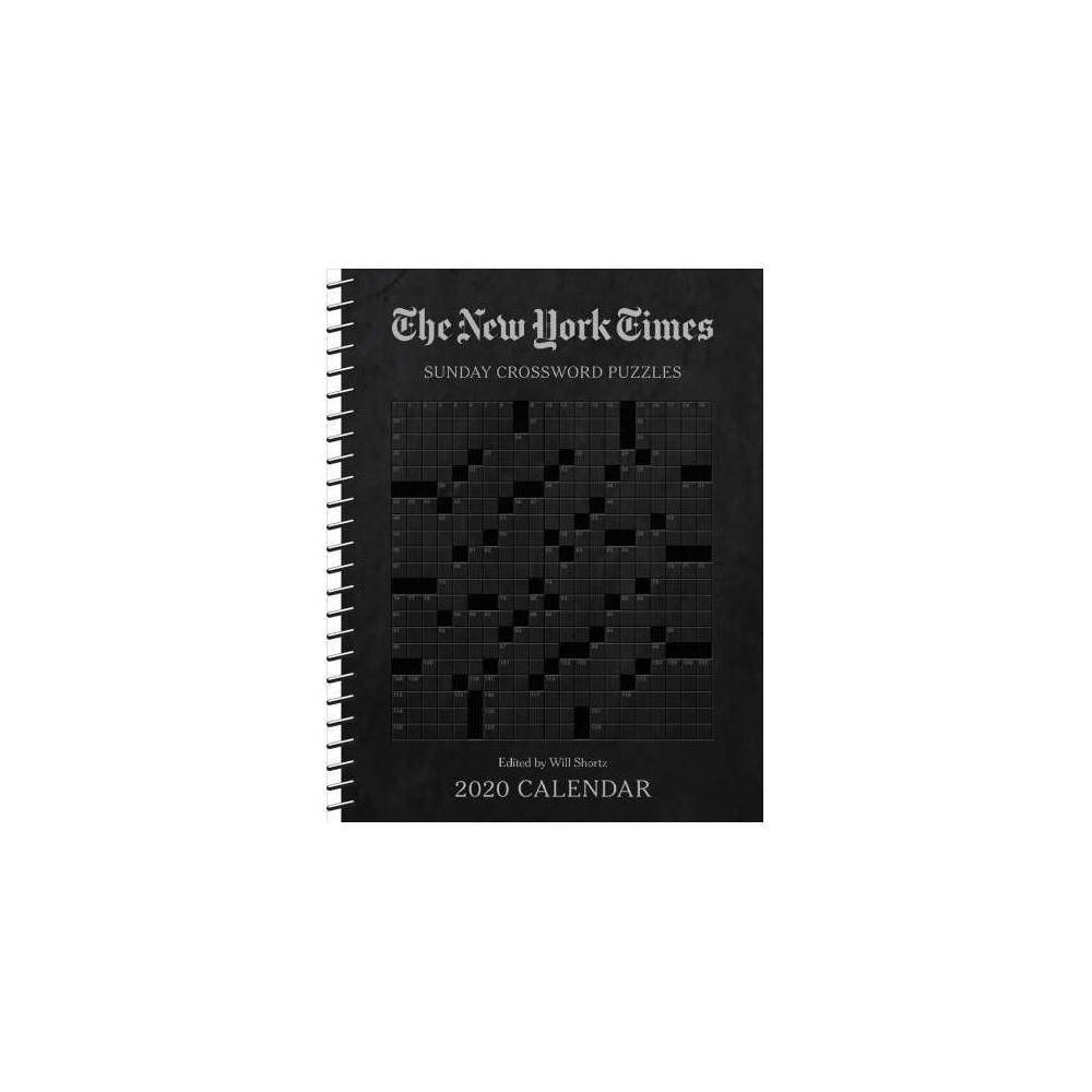New York Times Sunday Crossword Puzzles Weekly Planner 2020 Calendar - (Hardcover)
