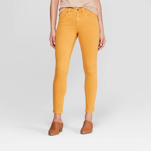 Women's High-Rise Skinny Jeans - Universal Thread™ Yellow 14 - image 1 of 3