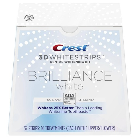 Crest 3d Whitestrips Brilliance White Teeth Whitening Kit 16ct
