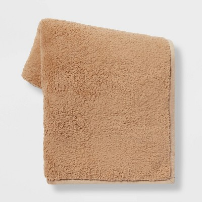 Solid Sherpa Throw Blanket - Threshold™