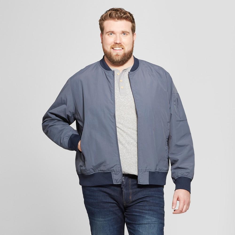 Men's Tall Matte Bomber Jacket - Goodfellow & Co Geneva Blue MT
