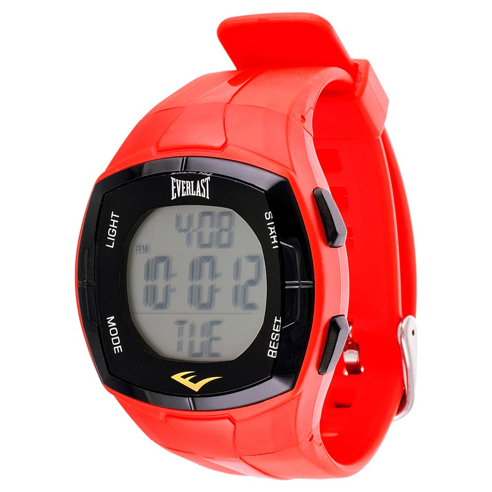 Image of Everlast Heart Rate Monitor Watch with Chest Strap Red, Women's