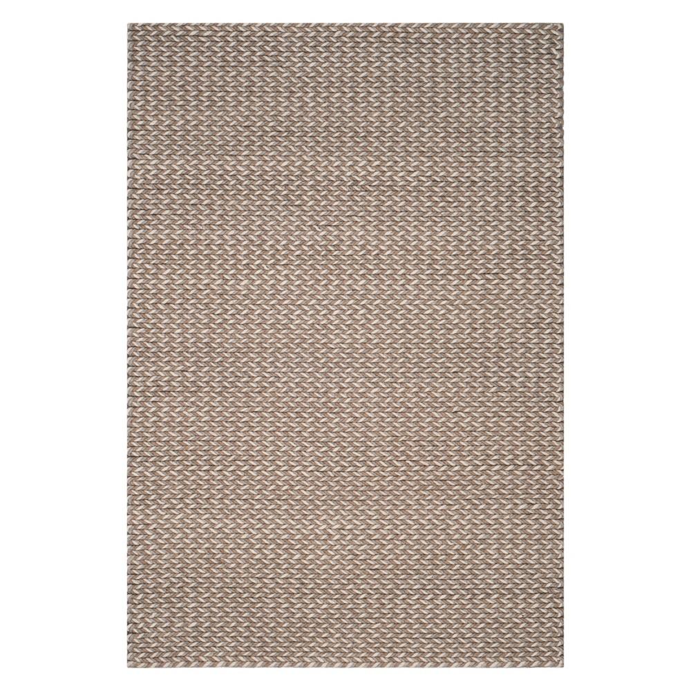 6'X9' Solid Area Rug Camel/Gray - Safavieh