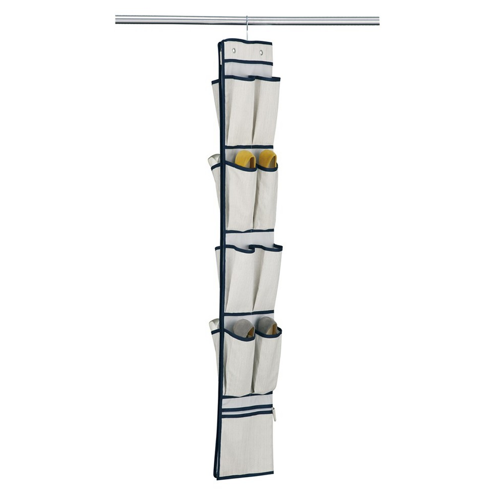 Image of Neu Home 16-Pocket Over the Door Organizer - Twilight, Off White