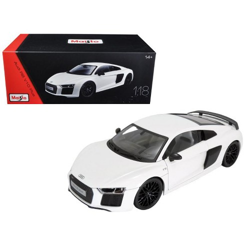 Audi R8 V10 Plus White Exclusive Edition 118 Diecast Model Car By