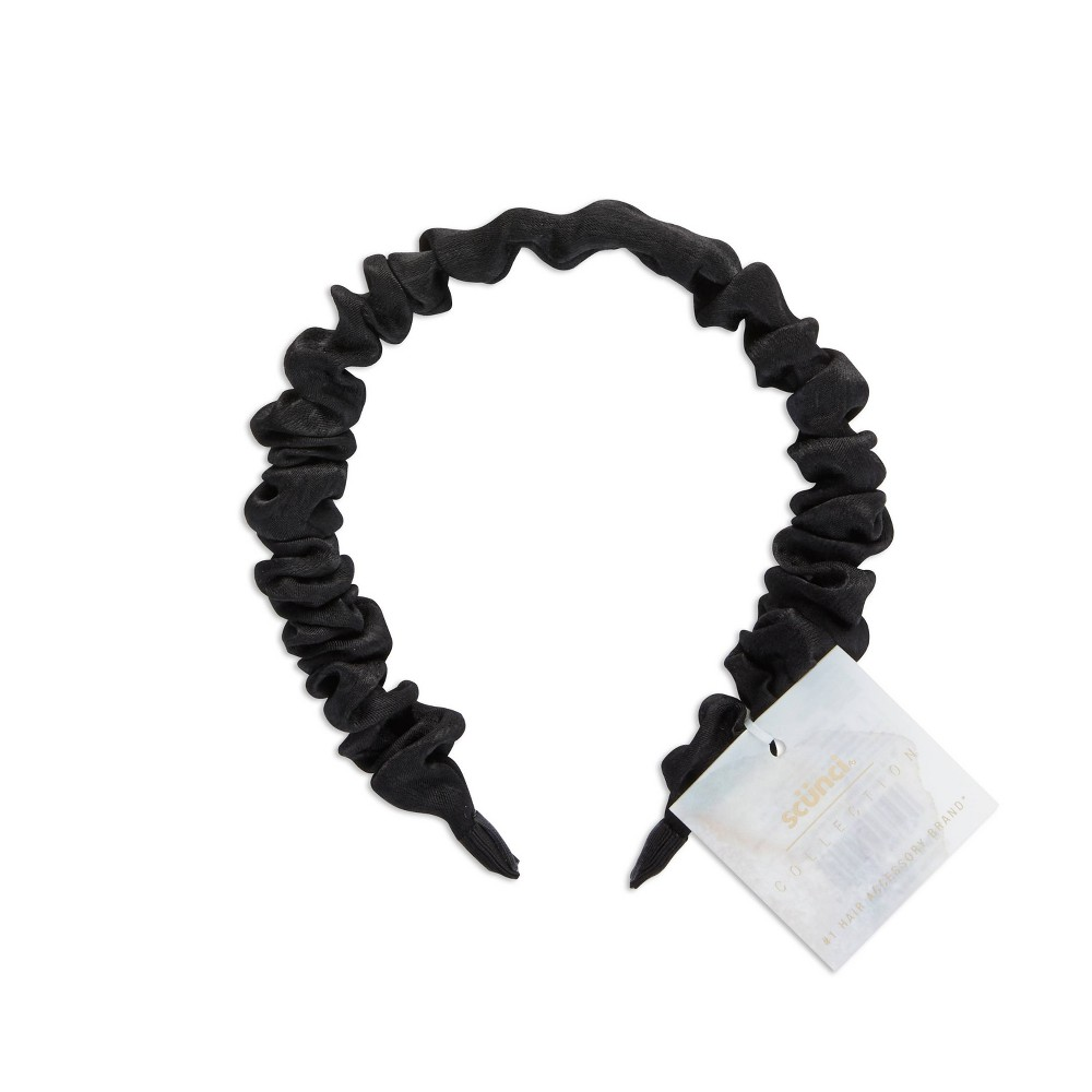 Scunci Fashion Scrunchie Headband Black