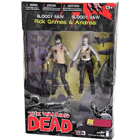 McFarlane Toys The Walking Dead Comic Series 3 Rick Grimes and Andrea Action Figure 2-Pack [Bloody Black and White] - image 1 of 1