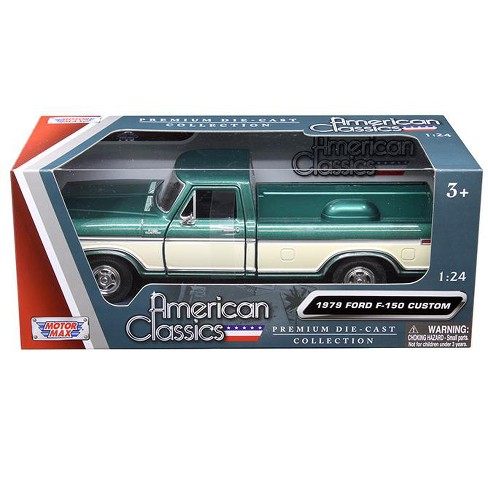 1979 Ford F-150 Pickup Truck Green Metallic and Cream 1/24 Diecast Model Car by Motormax - image 1 of 1