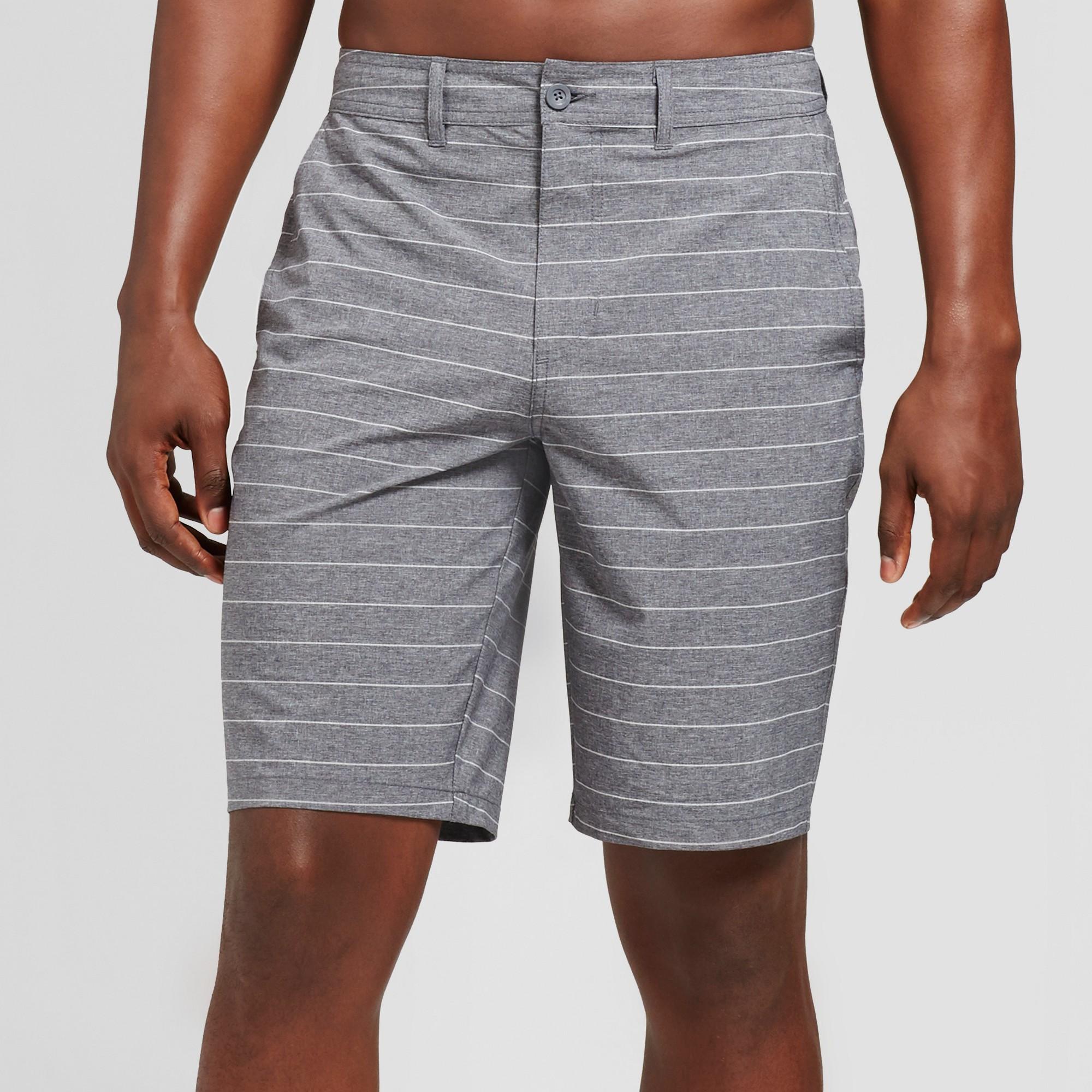 Men's 10.5 Current Stripe Hybrid Shorts - Goodfellow & Co Black 33