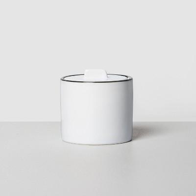 Small Stoneware Bath Canister White/Black - Hearth & Hand™ with Magnolia