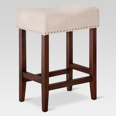 Rumford Saddle 24  Counter Stool - Oatmeal Linen - Threshold™