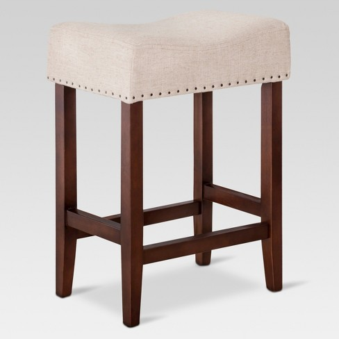 Awesome Rumford Saddle 24 Counter Stool Oatmeal Linen Threshold Gmtry Best Dining Table And Chair Ideas Images Gmtryco
