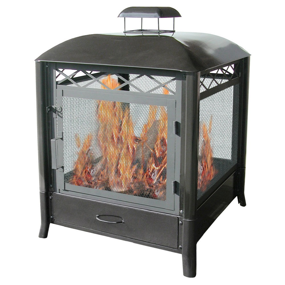 Image of Landmann Aspen Outdoor Fireplace Steel - Black