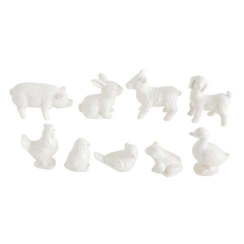 Stoneware Barnyard Animals Set of 9 - White - 3R Studios - image 1 of 3