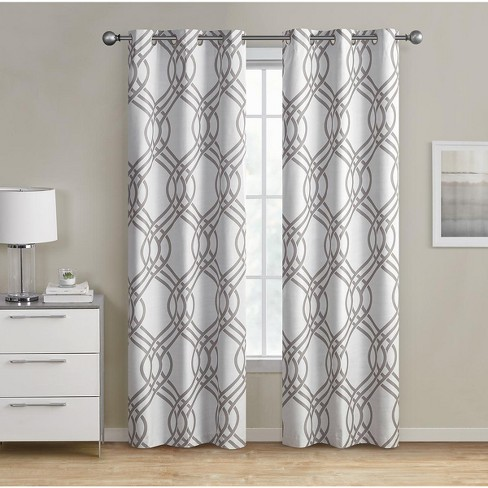 Kate Aurora Contemporary Living 2 Pack Geometric Blackout Grommet Curtains - image 1 of 1