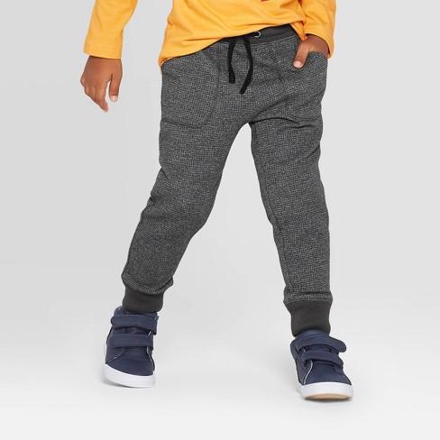 Toddler Boys' Jogger Pants - Cat & Jack™ Charcoal - image 1 of 3