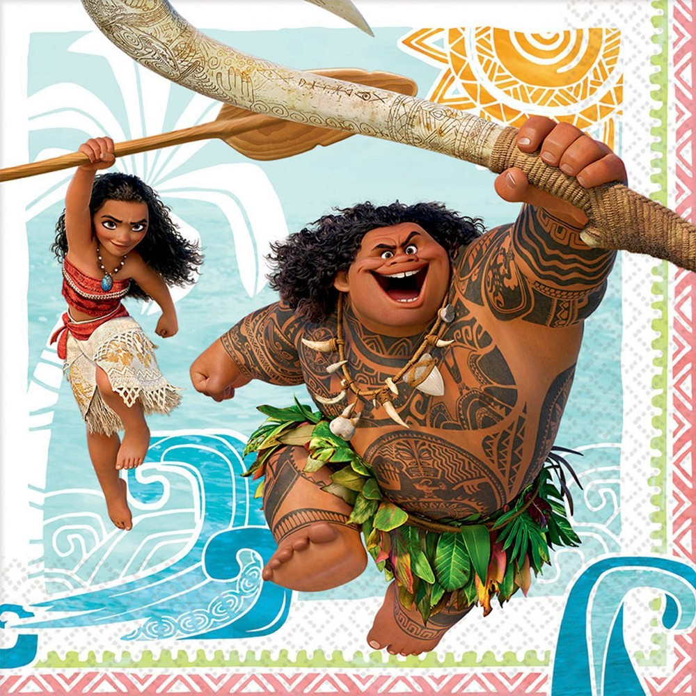 Image of Moana 16ct Lunch Napkins, disposable napkins