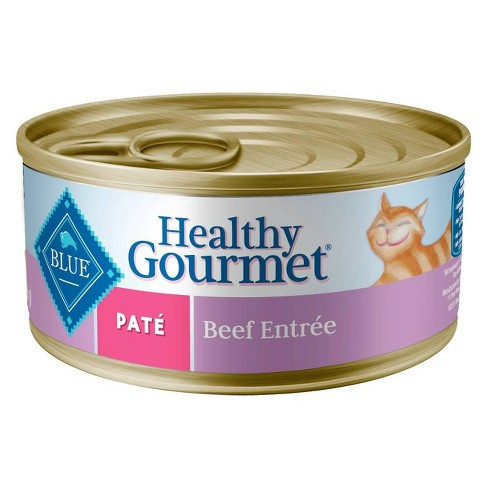 Blue Buffalo Healthy Gourment Pate Adult Beef Recipe Wet Cat Food -24pk/5.5oz - image 1 of 2