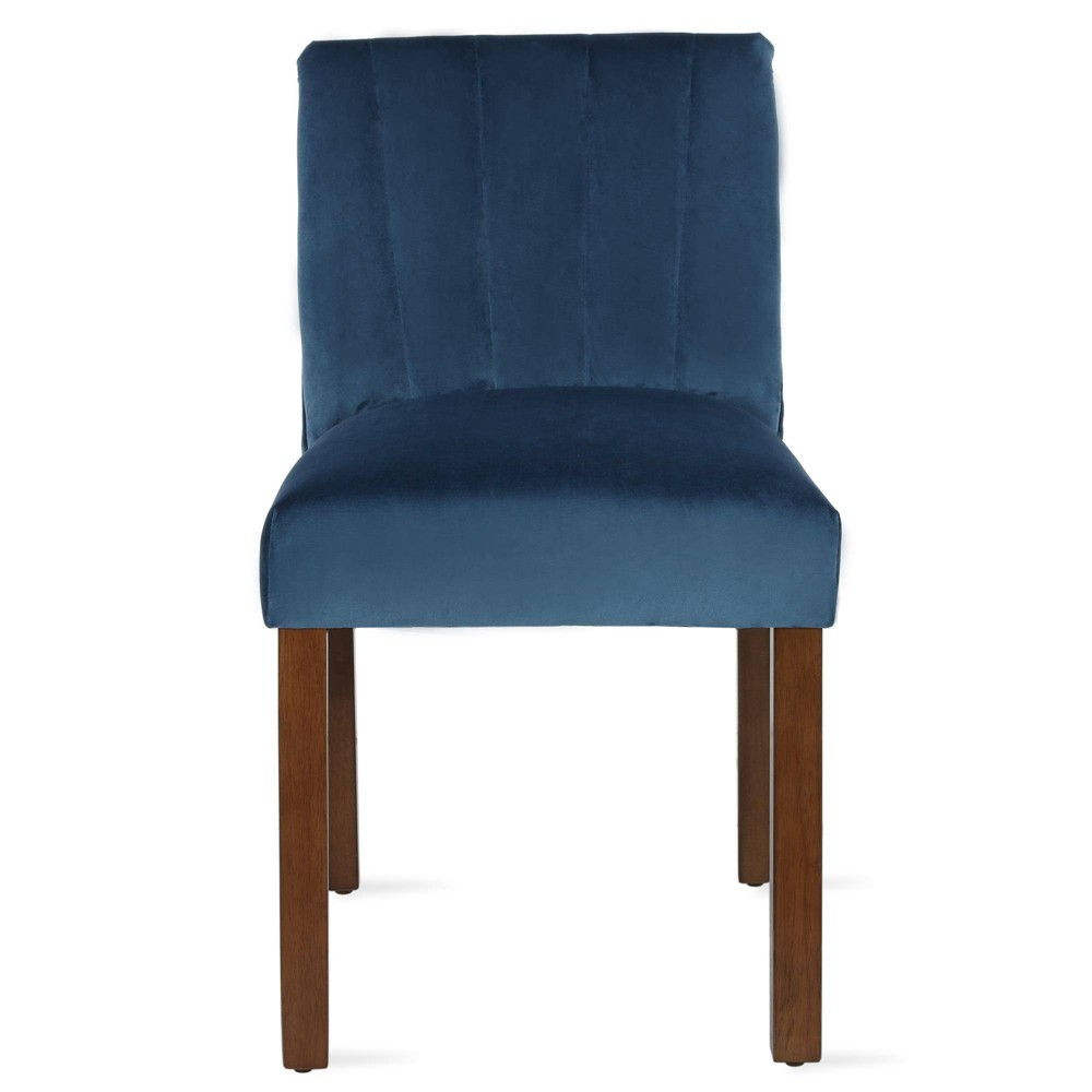 Image of 2pk Silas Channel Back Parsons Chair Blue - Dorel Living