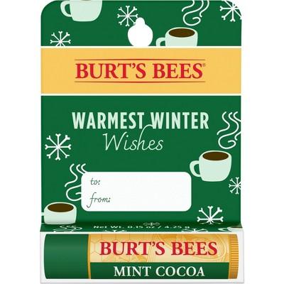 Burt's Bees Warmest Winter Wishes Lip Balm - Mint Cocoa - 0.15oz