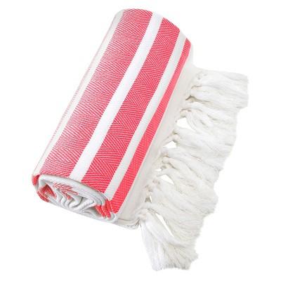 Herringbone Pesetemal Beach Towel Pink