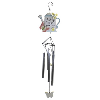 "Home & Garden 20.0"" Watering Can Wind Chime Music Butterfly Spring Ganz  -  Bells And Wind Chimes"