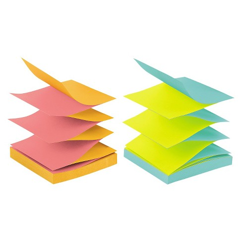 Post It Pop Up Notes Pop Up Refills 3 X 3 Multi Colored