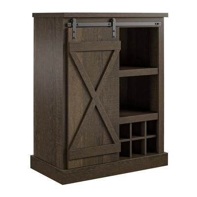 Marlette Bar Cabinet Brown Oak - Room & Joy