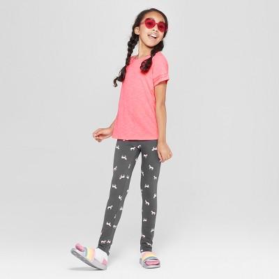 7c765b0d Girls' Short Sleeve Sequin Striped T-Shirt – Cat & Jack™ Coral XS ...