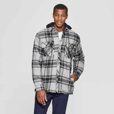 Dickies Mens Relaxed Fit Hooded Quilted Shirt Jacket Big