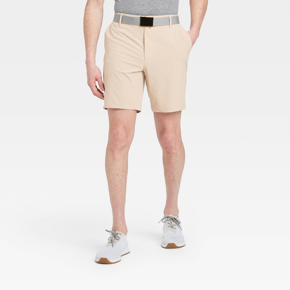 Men's Big & Tall Heather Golf Shorts - All in Motion Khaki 50, Green was $30.0 now $20.0 (33.0% off)