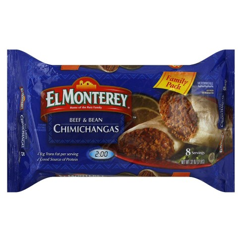 El Monterey Family Pack Beef & Bean Frozen Chimichangas - 8pk - image 1 of 1