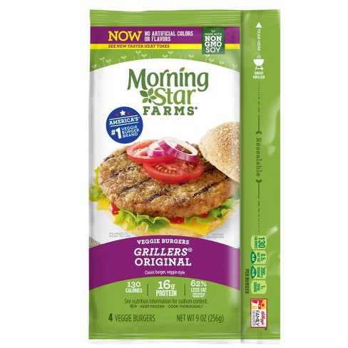MorningStar Farms Grillers Original Frozen Veggie Burger - 4ct - image 1 of 2