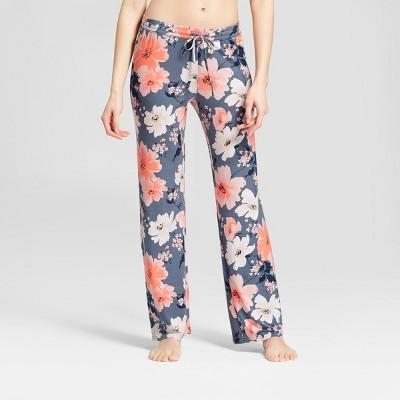 Women's Floral Print Pajama Pants - Gilligan & O'Malley™ Blue S