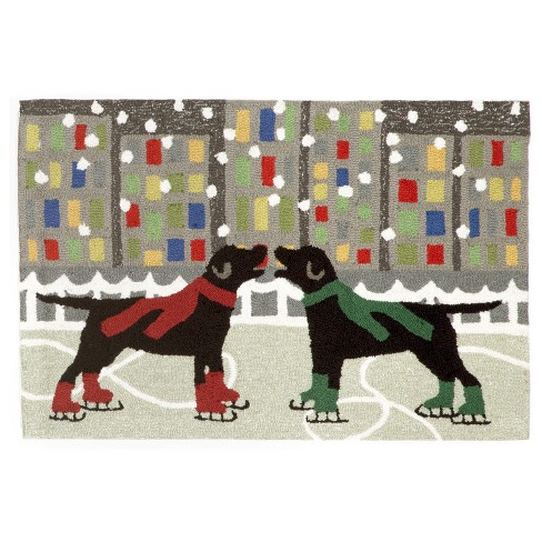 Holiday Ice Dogs Indoor/Outdoor Accent Rug - Liora Manne - image 1 of 2