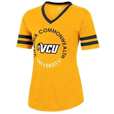 NCAA VCU Rams Women's Short Sleeve V-Neck Heathered T-Shirt