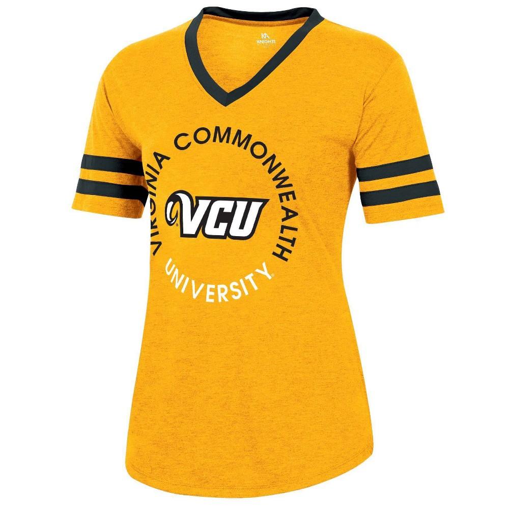 Ncaa Vcu Rams Women 39 S Short Sleeve V Neck Heathered T Shirt L