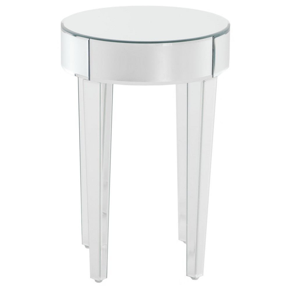 Normandie End Table - Mirrored - Christopher Knight Home, Silver