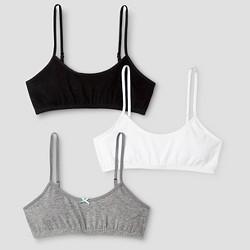 Girls' 3pk Cotton Cami Bra - Cat & Jack™ Gray/White/Black