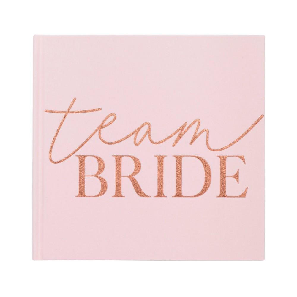 "Image of """"""Team Bride"""" Guest Book Pink"""
