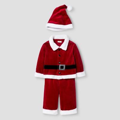 Baby Boys' 3 Piece Santa Set Cat & Jack™ - Red 3-6M