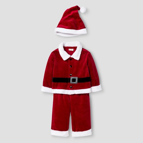 Baby Boys' 3 Piece Santa Set Cat & Jack™ - Red 18M - image 1 of 2